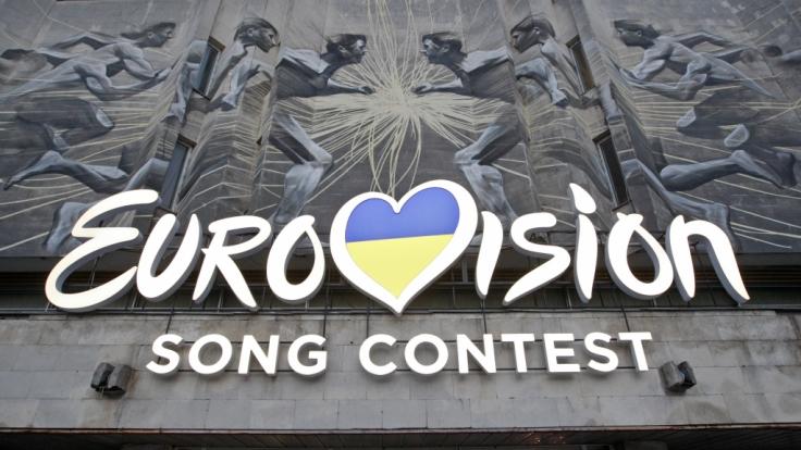 Das Logo des Eurovision Song Contest 2017, aufgenommen am 25.02.2017 in Kiew (Ukraine).