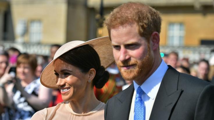 Im Frühjahr 2019 soll das erste Kind von Meghan Markle und Prinz Harry zur Welt kommen. (Foto)