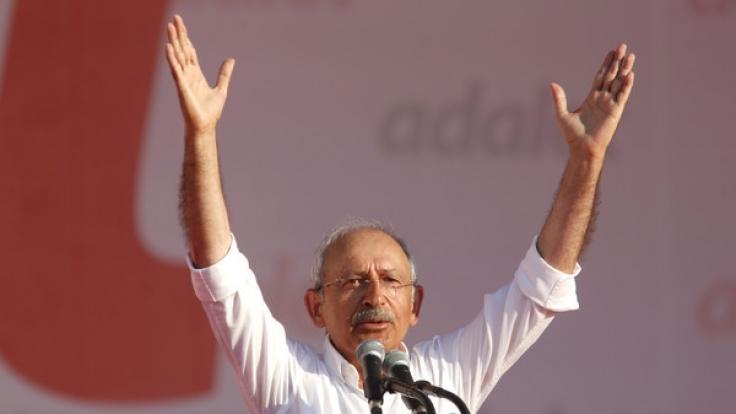 Der türkische Oppositionspolitiker führte unter anderem den mehr als 400 Kilometer langen