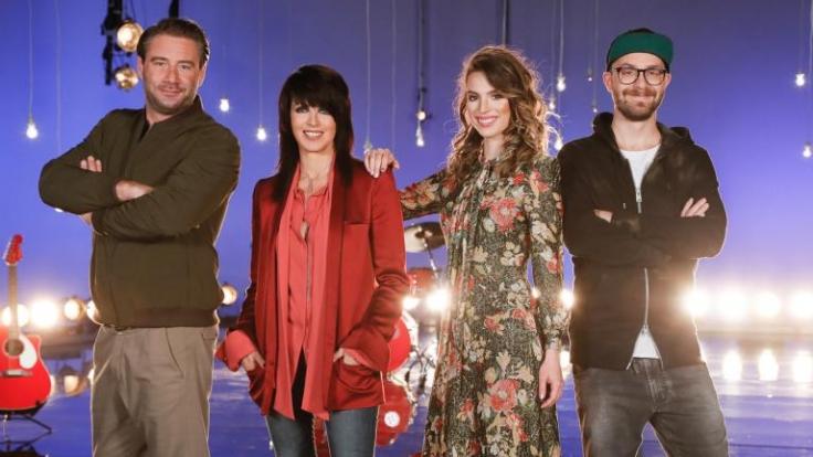 Sasha, Nena, Larissa und Mark Forster warten auf die neuen Talente bei