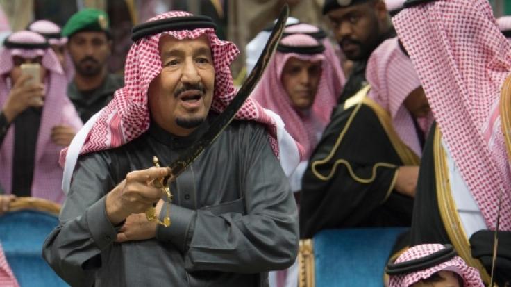 Saudischer König Salman bei einer Kulturveranstaltung
