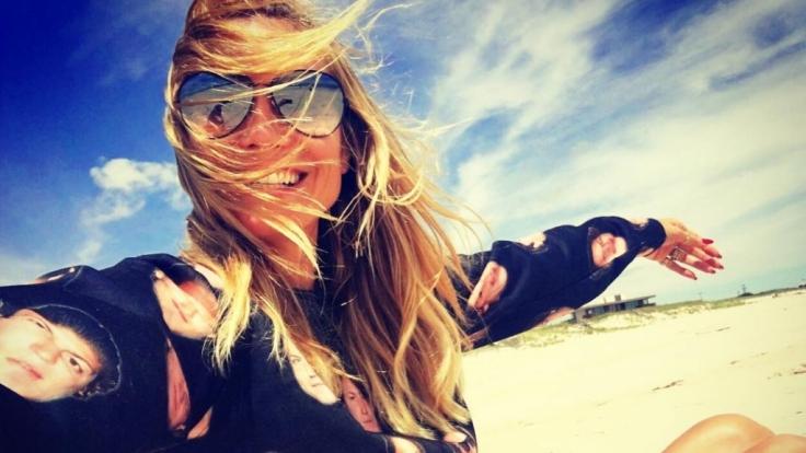 Schwebt auf Wolke sieben: Heidi Klum mit Freund Vito Schnabel.