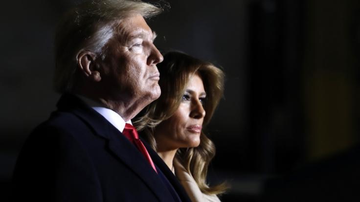 Wurden eher selten zusammen gesehen: Donald und Melania Trump. (Foto)