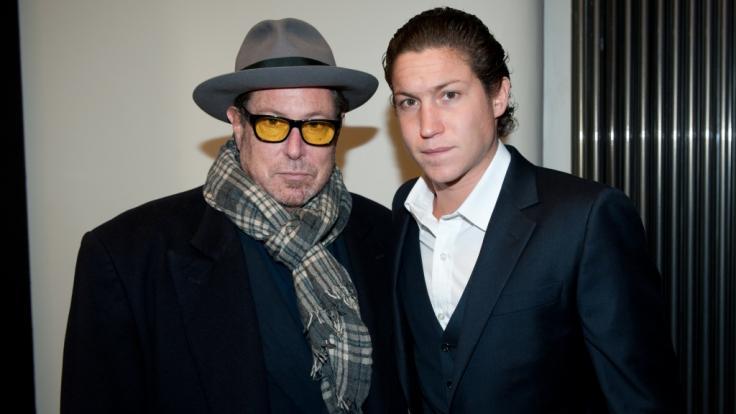 Heidi Klums Ex-Freund Vito Schnabel (rechts) mit seinem Vater Julian Schnabel (links). (Foto)