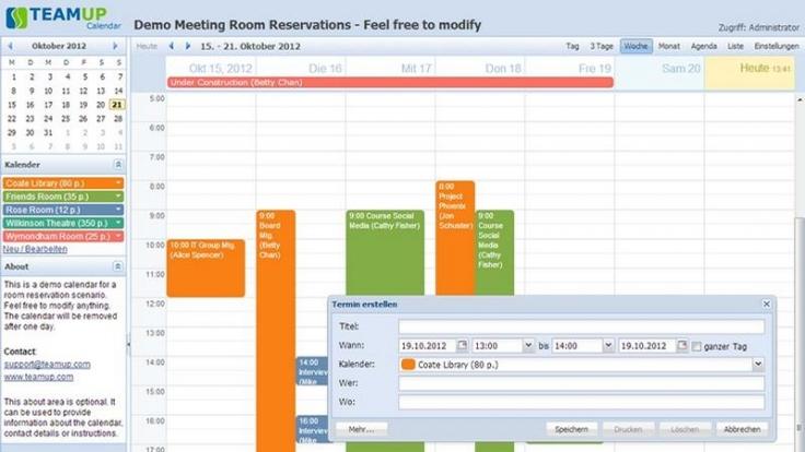Kostenlosen Gruppenkalender ohne Anmeldung nutzen (Foto)