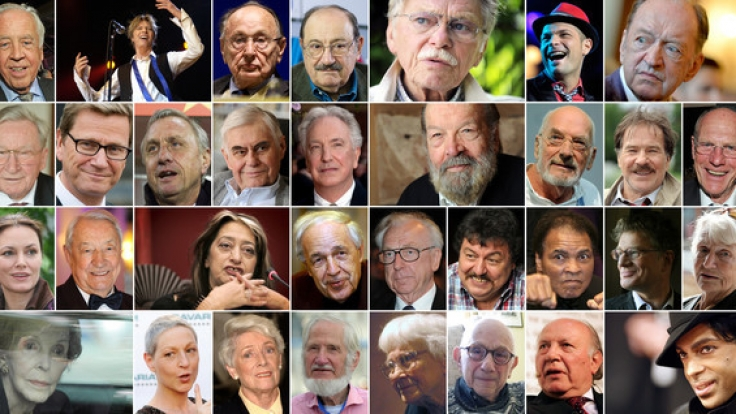 Einige der 2016 verstorbenen Prominenten, Sternchen und Stars. (Foto)