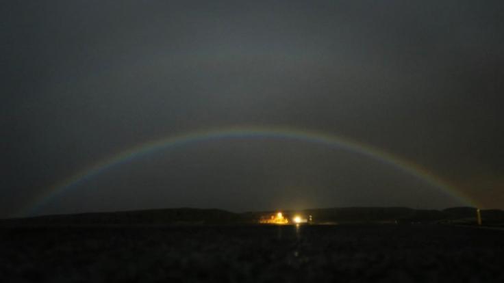 Ob es an den kommenden Tagen einen Mondregenbogen geben wird?