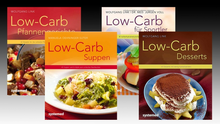 Die Low-Carb-Rezepte für das 3-Gänge-Menü finden sich in den Büchern der systemed-Reihe. (Foto)