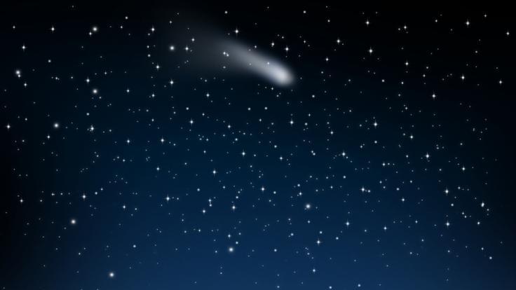 Im Mai fliegen die Aquariden über den Nachthimmel. (Foto)