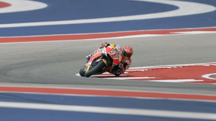 In der MotoGP dreht Marc Marquez im Freien Training in Austin/Texas seine Runden auf der Rennstrecke.