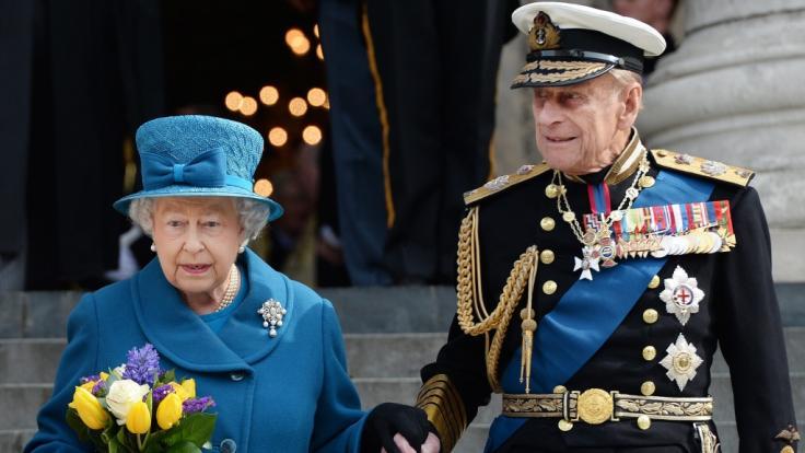Queen Elizabeth II. und Prinz Philip im Jahr 2015.