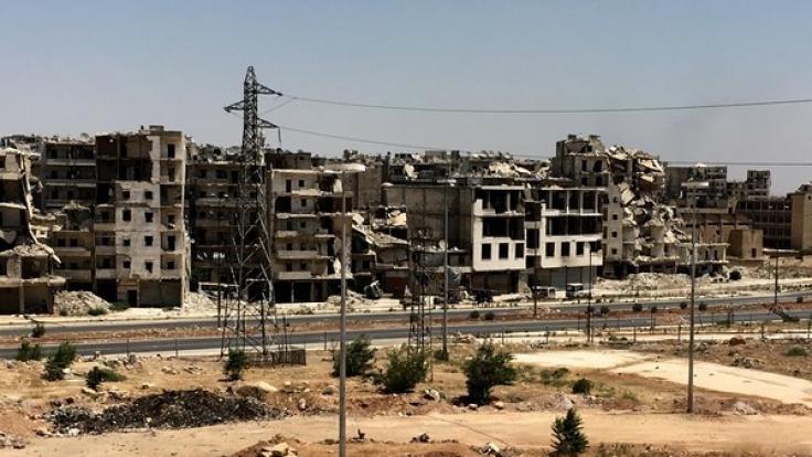 Die traurige Realität in Syrien: Ein Bild aus einem zerstörten Vorort von Aleppo. Das Werbevideo finden Sie unterhalb des Textes.