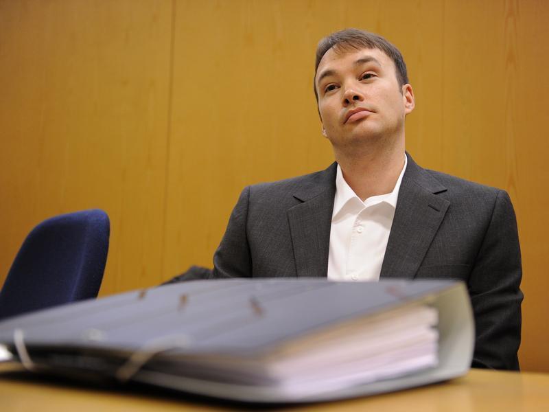 Der verurteilte Kindermörder Magnus Gäfgen Mitte März in
