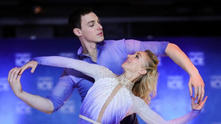 """Aljona Savchenko und Bruno Massot stehen für """"Holiday on ice"""" auf dem Eis. (Foto)"""