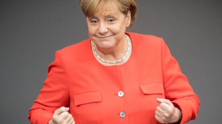 Angela Merkel hat allen Grund zur Freude: Immerhin bekommt sie prominente Unterstützung! (Foto)