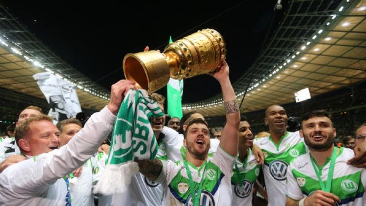 DFB-Pokalsieger 2014 VFL Wolfsburg (Foto)