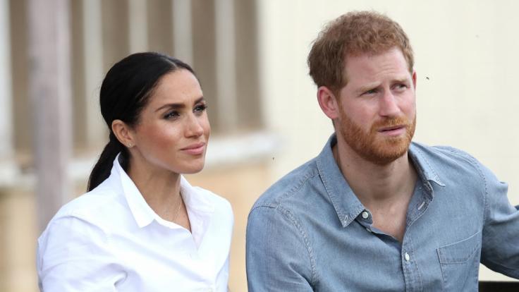 Harry hat Angst um seine Frau Meghan Markle und Sohn Archie. (Foto)