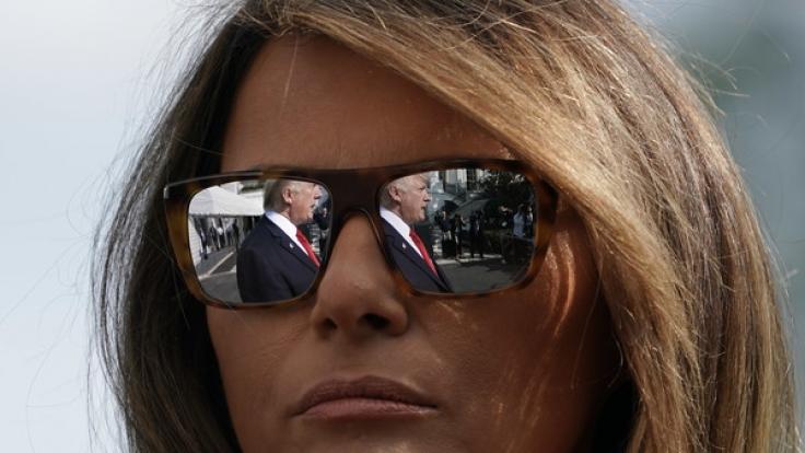 Melania Trump ist ein Triumph gelungen - ihr Gatte, der US-Präsident Donald Trump, kann ihr nicht das Wasser reichen. (Foto)
