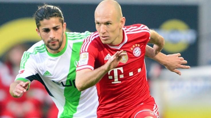 Spielplan 2014/15: Diese WM-Teilnehmer begegnen sich zum Start der Bundesliga-Saison 2014/15 wieder - Bayerns Arjen Robben gegen Wolfsburgs Ricardo Rodriguez.
