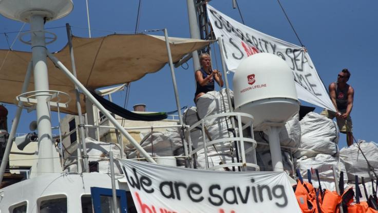 """Das deutsche Seenotrettungsschiff """"Lifeline"""" im Hafen von Malta (Foto)"""