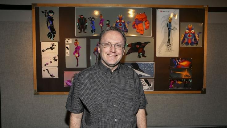 Hans Driskill, Technical Supervisor für Baymax - Riesiges Robowabohu, erklärte die neue Rendering-Software Hyperion.