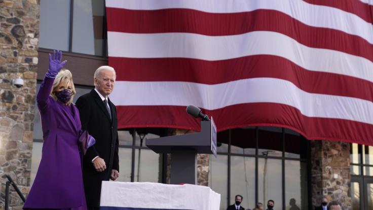 Joe Biden, hier mit seiner Ehefrau Jill Biden, wird am 20. Januar 2021 als 46. US-Präsident vereidigt. (Foto)