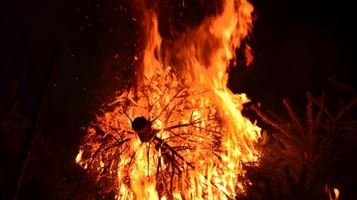 Ein brennender Christbaum hat in Mönchweiler eine Doppelhaushälfte in Brand gesetzt.