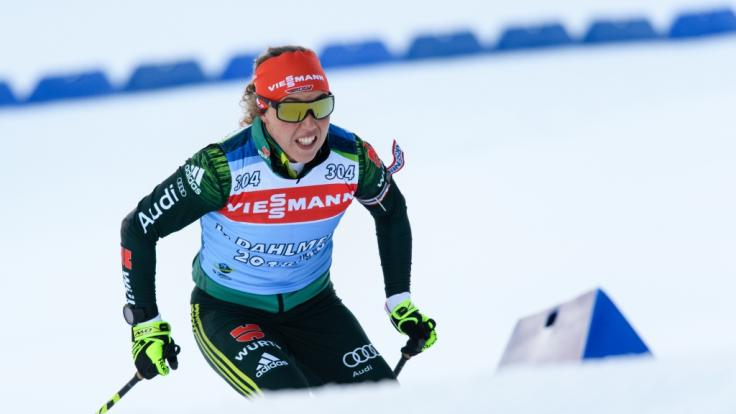 Laura Dahlmeier in Aktion.