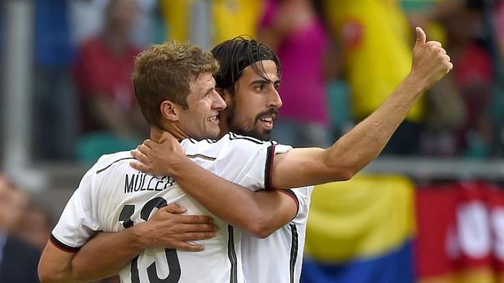 Gegen Portugal die Köpfe des Teams: Thomas Müller und Sami Khedira.