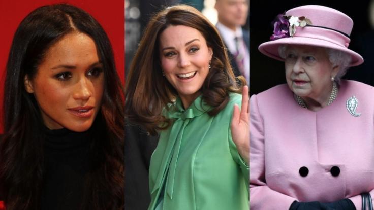 Meghan Markle, Kate Middleton und Queen Elizabeth II. beherrschten auch in dieser Woche die royalen Schlagzeilen. (Foto)
