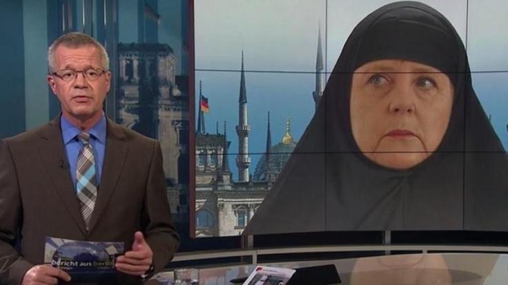 Die ARD zeigt Bundeskanzlerin Angela Merkel verschleiert.