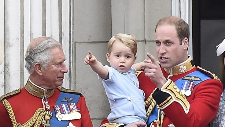 Seltener Anblick: Prinz Charles und Enkel George bei einem gemeinsamen Auftritt.