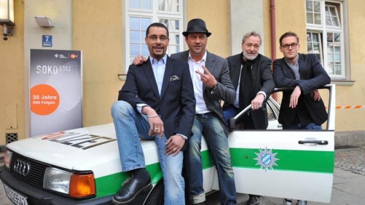 Christofer von Beau (Kriminaloberkommissar Franz Ainfachnur, links) gehört zur Stammbesetzung der ZDF-Serie