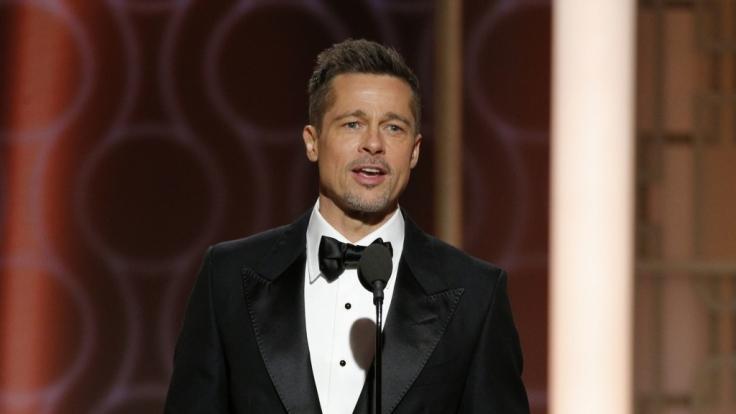 Brad Pitt überraschte mit seinem ersten großen Auftritt nach der Trennung von Angelina Jolie. (Foto)
