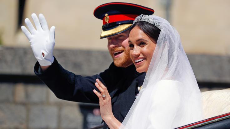 Die Herzöge Harry und Meghan von Sussex bei ihrer royalen Hochzeit vor zwei Jahren. (Foto)
