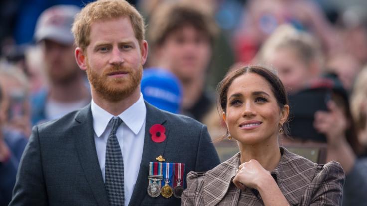 Meghan Markle und Prinz Harry erwarten ihr erstes Kind, wie während einer Australien-Reise des Paares bekanntgegeben wurde. (Foto)
