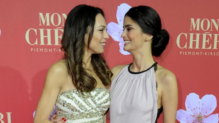 Lilly Becker und Shermine Shahrivar im jahr 2012.
