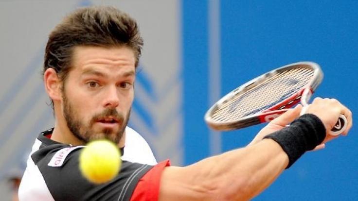 Daniel Köllerer bei einem ATP-Turnier 2010 in München.