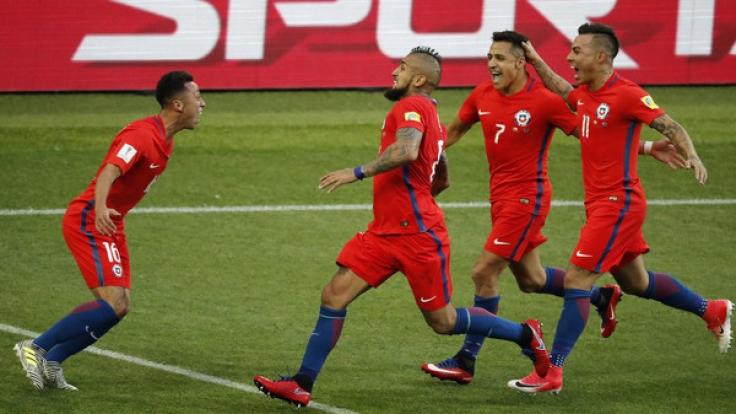 Im Halbfinale des Confed Cup 2017 trifft Chile auf Portugal. (Foto)