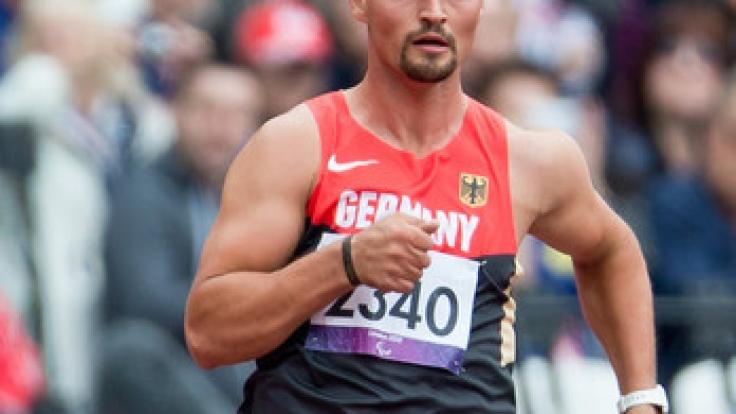 Paralympics-Sieger Heinrich Popow in seinem Element: Der heute 33-Jährige trat 2012 bei den Paralympischen Spielen in London an.