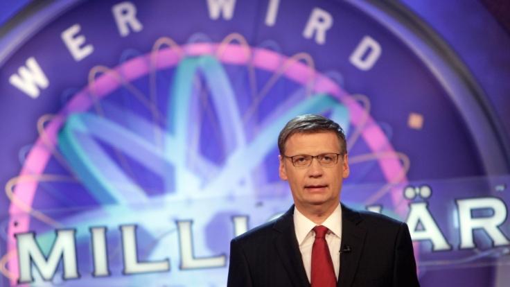 Günther Jauch begrüßt auch an diesem Monat Quizkandidaten bei