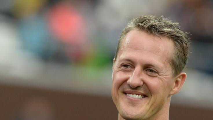 Ein Bild aus glücklichen Tagen: Michael Schumacher im Herbst 2013. (Foto)