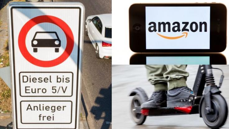 Im Monat Juni 2019 treten mehrere neue Gesetze in Kraft, die unter anderem Dieselfahrverbote in Berlin, E-Scooter und Amazon betreffen. (Foto)