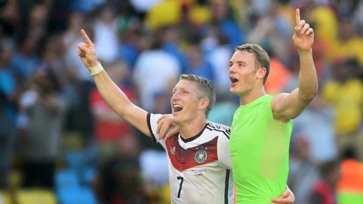 Reif fürs Finale: Bastian Schweinsteiger und Manuel Neuer.