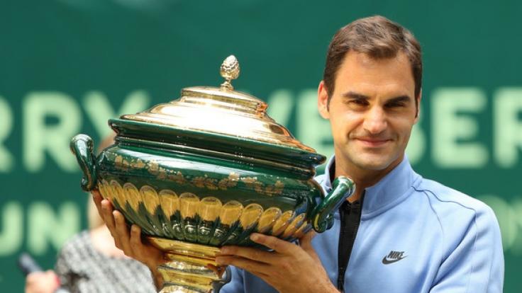 Roger Federer als Gewinner der ATP-Tour 2017 in Halle/Westfalen. (Foto)