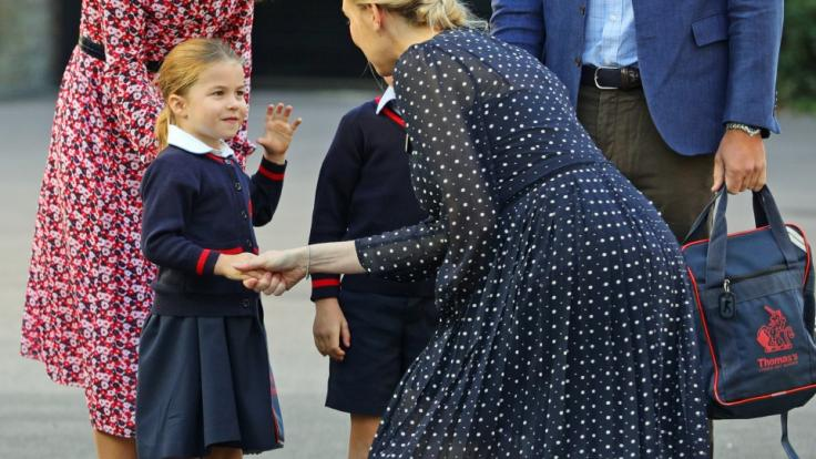 Prinzessin Charlotte ist jetzt ein Schulkind.