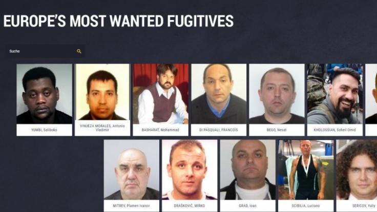 Die europäische Polizeibehörde Europol fahndet mit dieser Foto-Liste nach den 18 gefährlichsten Sexualverbrechern Europas. (Foto)