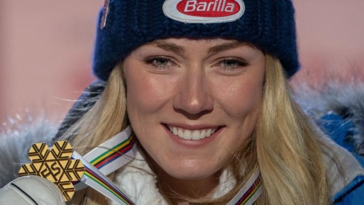 Die US-amerikanische Skirennläuferin Mikaela Shiffrin ist eine der erfolgreichsten Athletinnen in der Ski-alpin-Geschichte. (Foto)