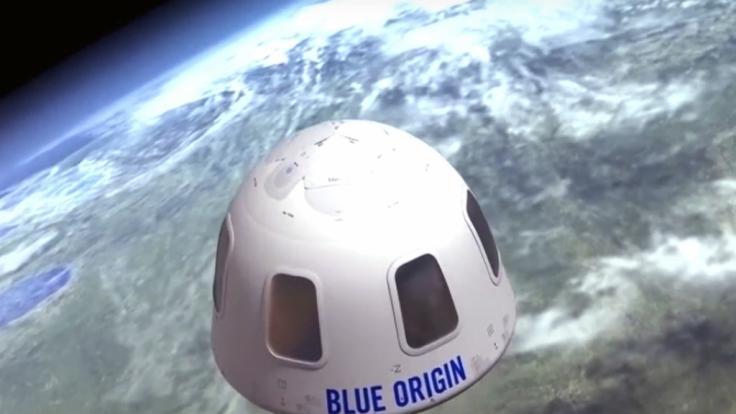 Dieses von Blue Origin zur Verfügung gestellte undatierte Bild zeigt eine Illustration der Kapsel, mit der Touristen ins All gebracht werden sollen. (Foto)