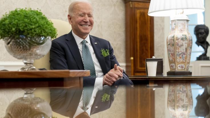 Joe Biden muss schon wieder Spott über sich ergehen lassen. (Foto)